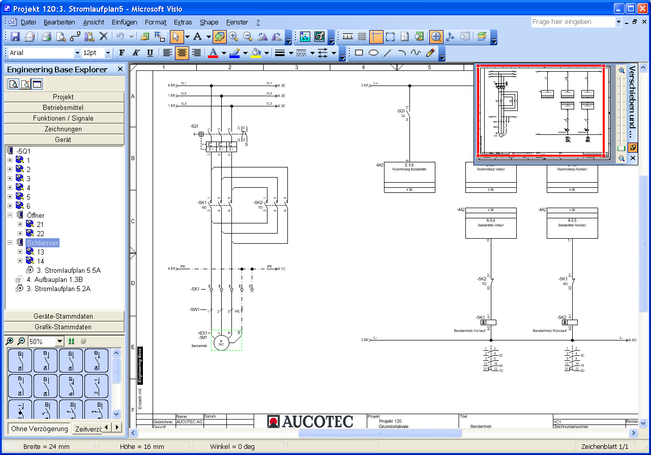 ABB Graphical view of the rolling mills - Engineering Base - AUCOTEC
