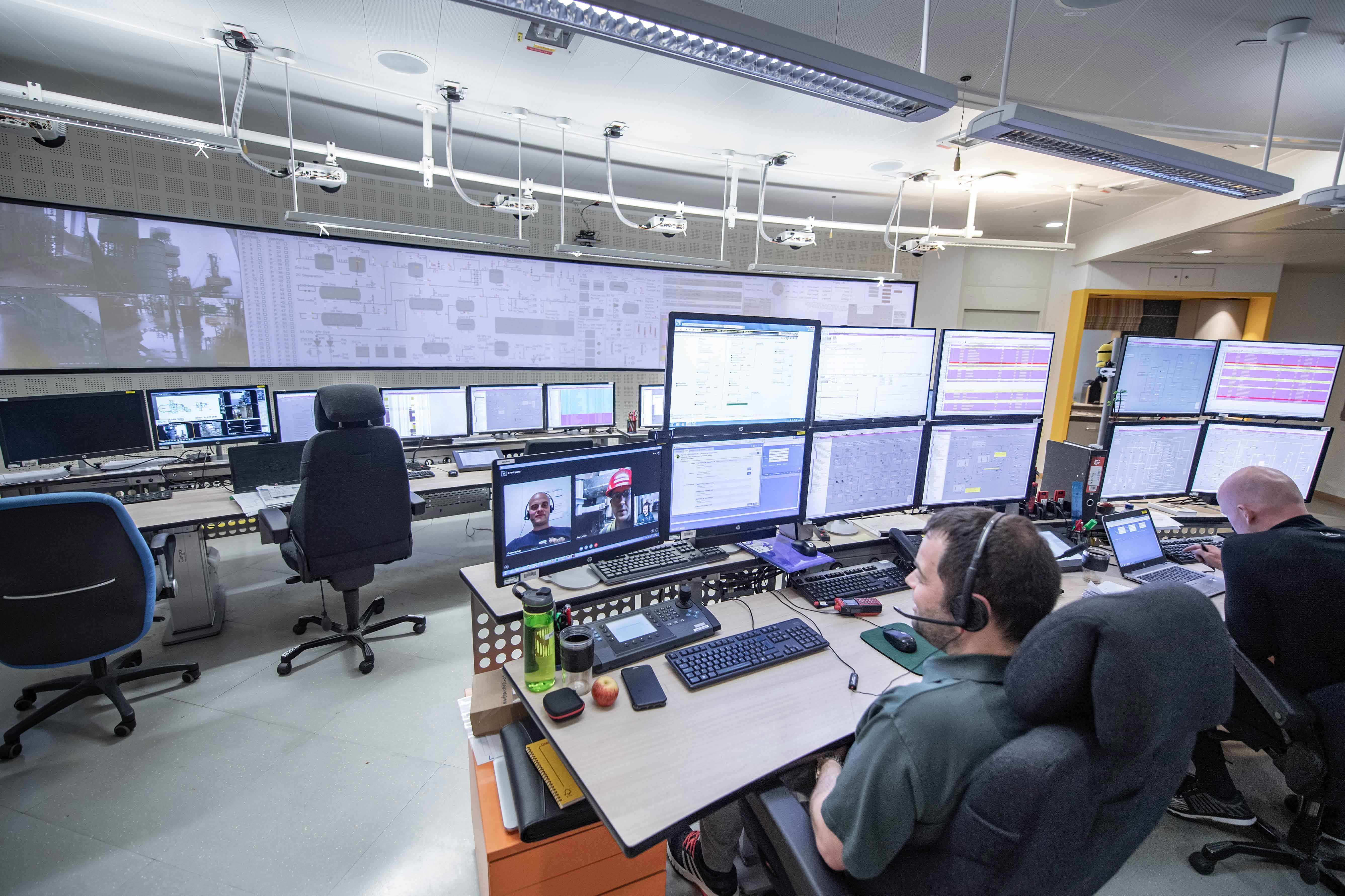 Control room of an Equinor offshore platform