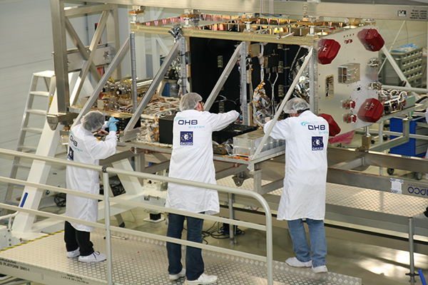 Integration Galileo FOC-Satellite, OHB System, Bremen